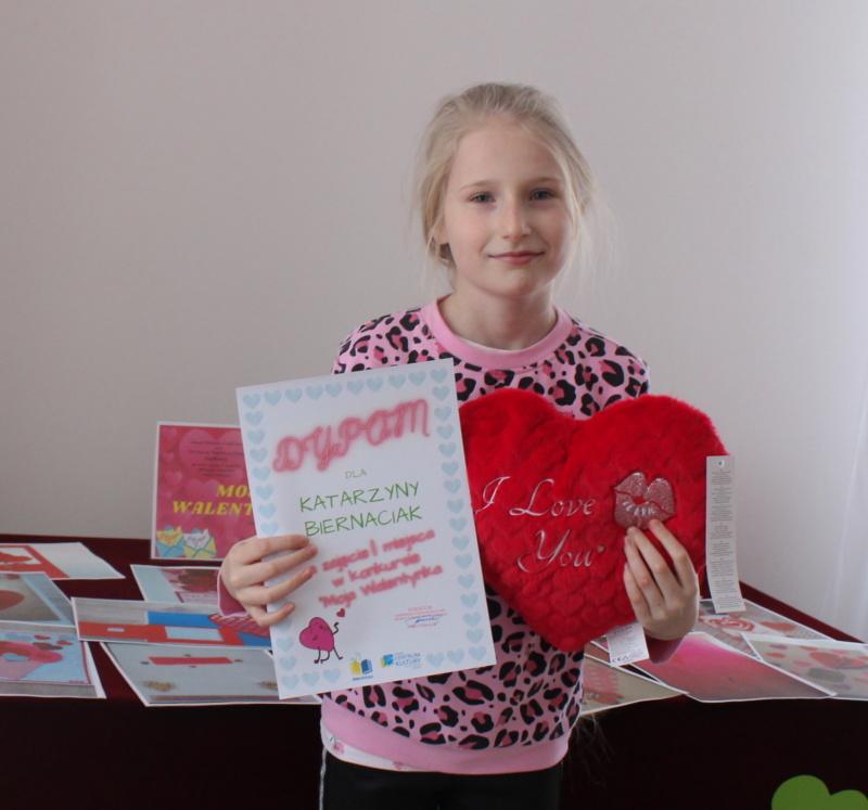 """Laureatka konkursu """"Moja Walentynka"""" Katarzyna Biernaciak"""