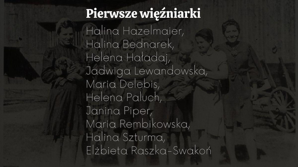 Pierwsze więźniarki osadzone w filii obozu