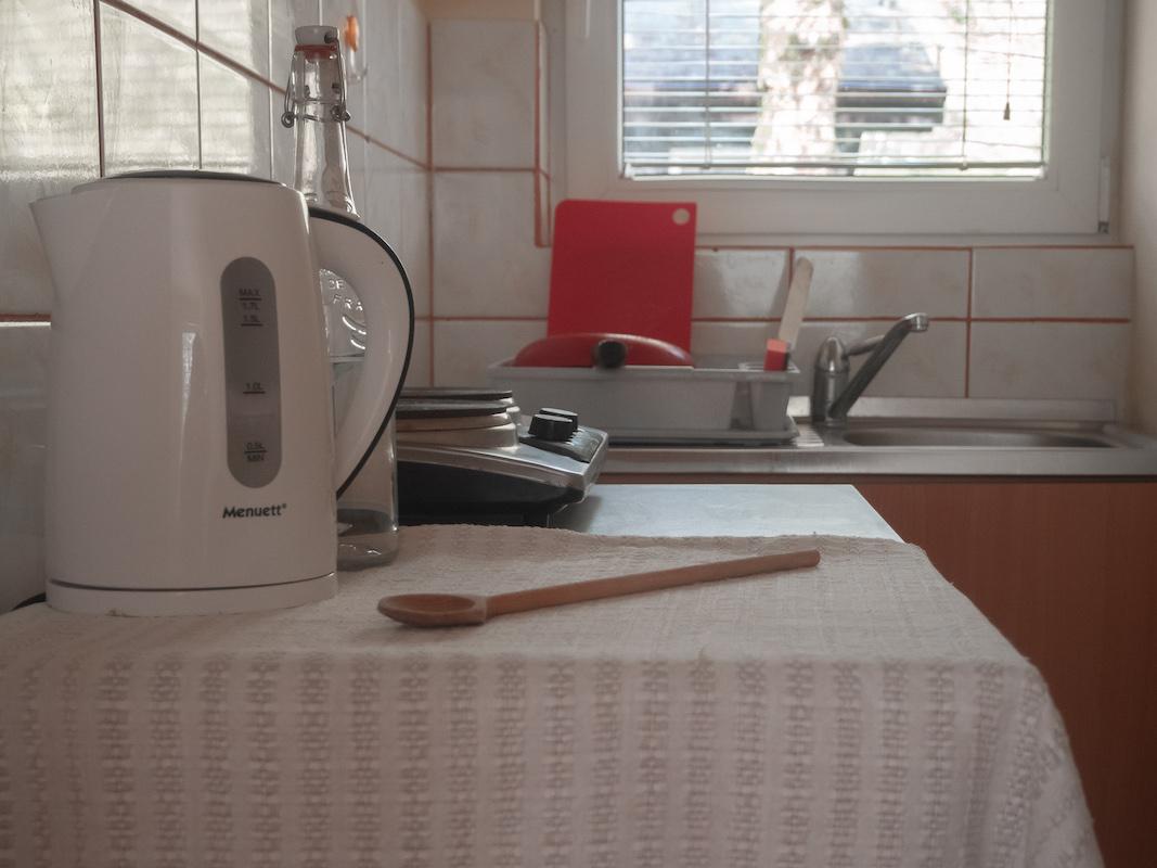 domek wypoczynkowy Dzierżązna, kuchnia
