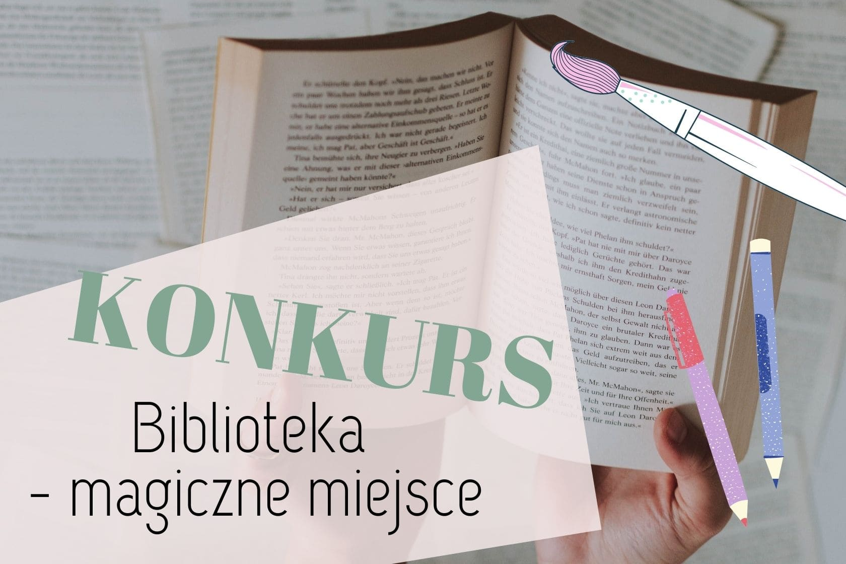 konkurs, Dzień Bibliotek i Bibliotekarza, dla dzieci, dla młodzieży, czytelnictwo