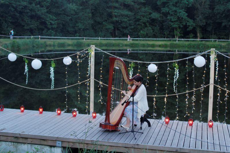 harfa, koncert, pomost,