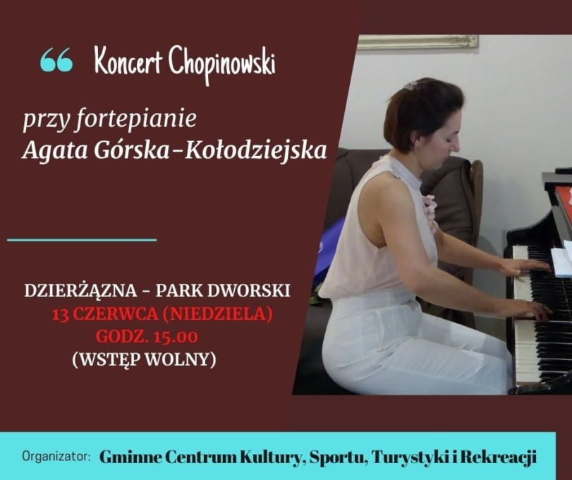 zaproszenie, koncert fortepianowy, Chopin