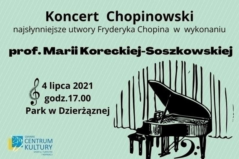 zaproszenie, koncert Chopinowski