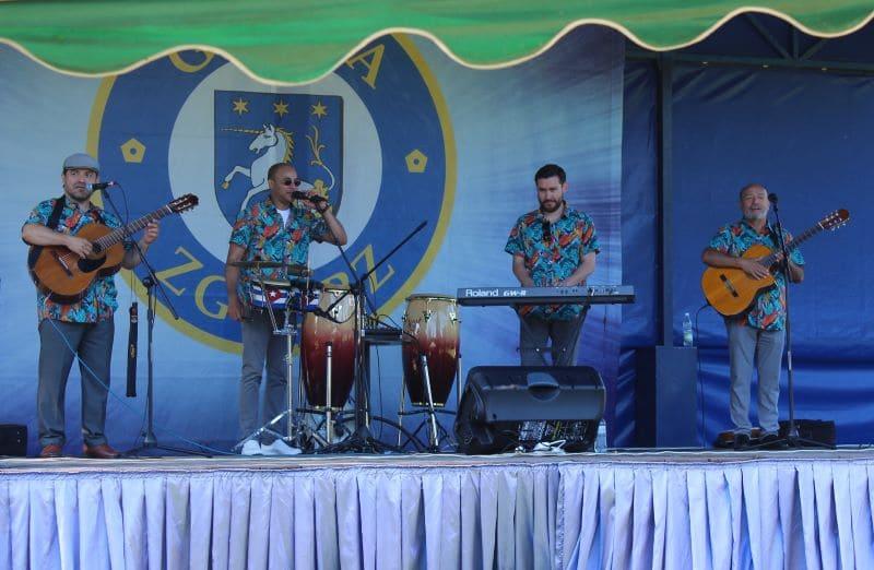 Zespół kubański, koncert, scena plenerowa